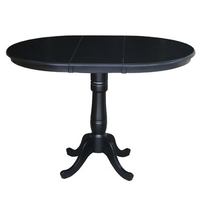 Madeline Pub Table Color: Black