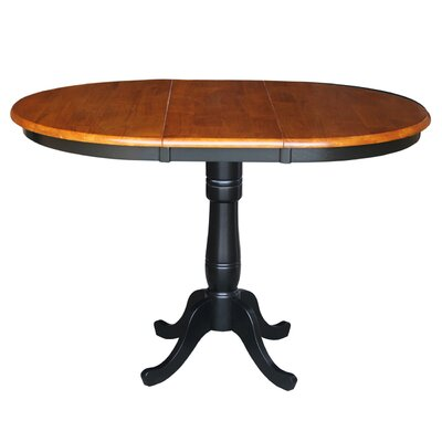 Madeline Pub Table Color: Black/Cherry