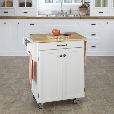 Savorey Kitchen Cart Base Finish: White