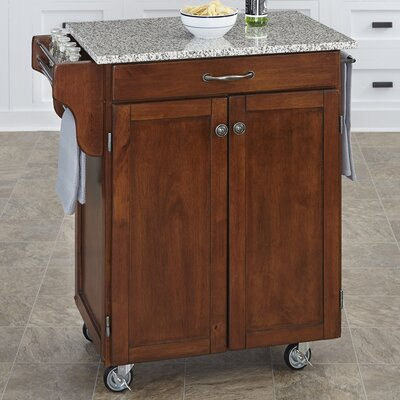 Savorey Kitchen Cart with Granite Top Base Finish: Cherry