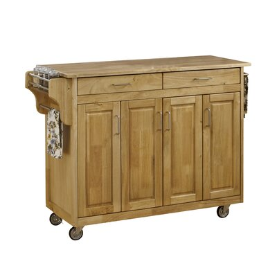 Regiene Kitchen Island with Natural Wood Base Finish: Natural