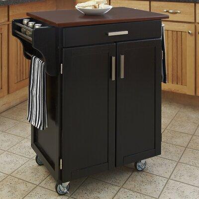 Savorey Kitchen Cart Finish: Black