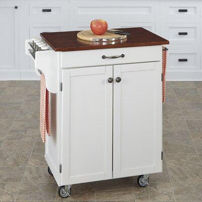 Savorey Kitchen Cart Finish: White