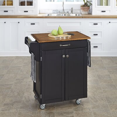 Savorey Kitchen Cart Finish: Black