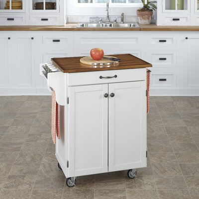 Savorey Kitchen Cart Finish: White
