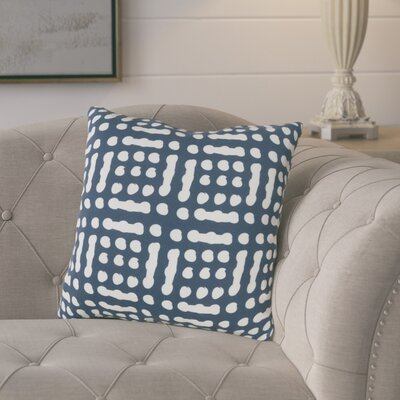 Eliza Throw Pillow Size: 18 H x 18 W x 4 D, Color: BlueNeutral