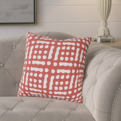 Eliza Throw Pillow Size: 20 H x 20 W x 5 D, Color: RedNeutral