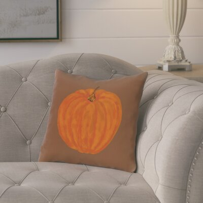 Ivy Lil Pumpkin Holiday Outdoor Throw Pillow Color: Brown