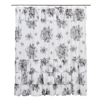 Amaranth Cotton Shower Curtain Color: Black