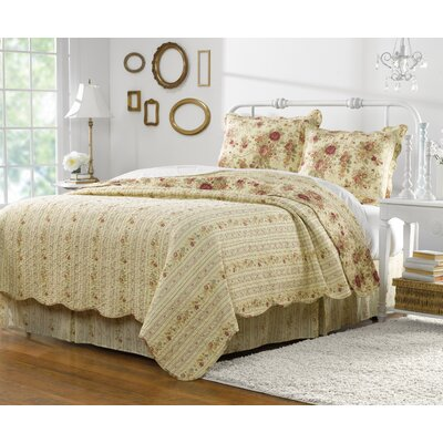 Abbigail 2 Piece Reversible Quilt Set Size: Twin