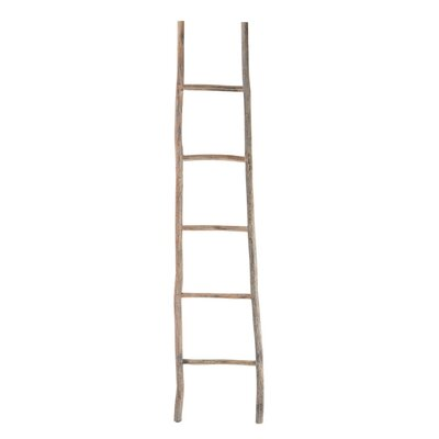 Wood White Washed 17 W x 39 H Decorative Ladder