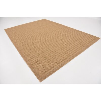 Lyster Light Brown Outdoor Area Rug Rug Size: 8 x 114