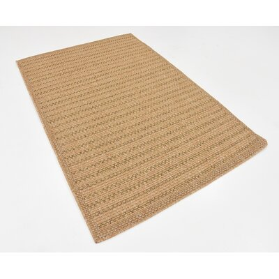 Lyster Light Brown Outdoor Area Rug Rug Size: 4 x 6