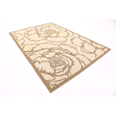 Souliere Beige Outdoor Area Rug Rug Size: 6 x 9