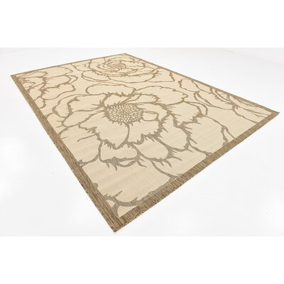 Souliere Beige Outdoor Area Rug Rug Size: 8 x 114
