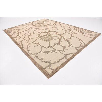 Souliere Beige Outdoor Area Rug Rug Size: 9 x 12