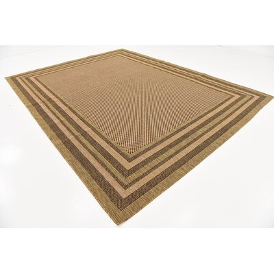 Portneuf Light Brown Outdoor Area Rug Rug Size: 9 x 12
