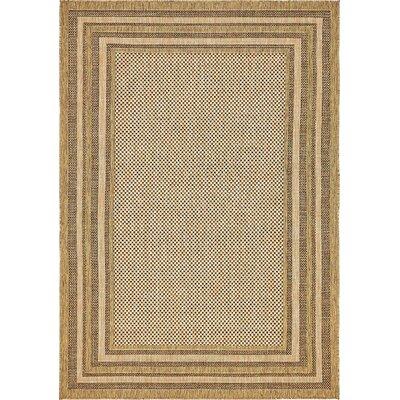 Portneuf Light Brown Outdoor Area Rug Rug Size: 6 x 9