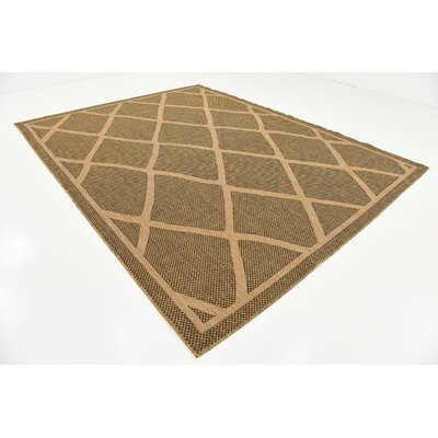 Thibodeau Brown Outdoor Area Rug Rug Size: 9 x 12