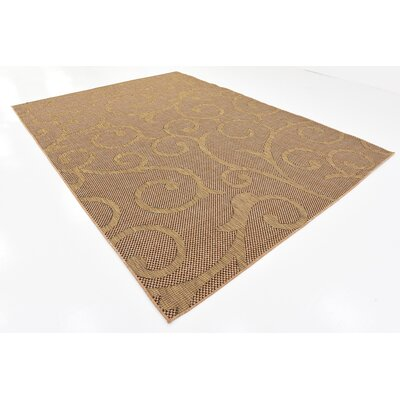 Milieu Light Brown Outdoor Area Rug Rug Size: 8 x 114