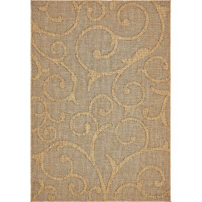 Milieu Light Brown Outdoor Area Rug Rug Size: 6 x 9