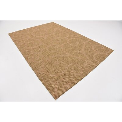 Anselme Brown Outdoor Area Rug Rug Size: 6 x 9