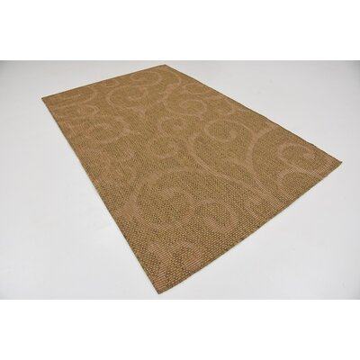 Anselme Brown Outdoor Area Rug Rug Size: 5 x 8