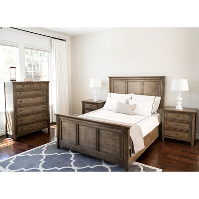 Justin Weathered Oak Panel 4 Piece Bedroom Set Size: King