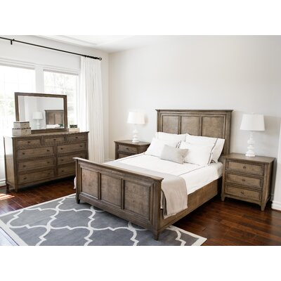 Justin Weathered Oak Panel 5 Piece Bedroom Set Size: King