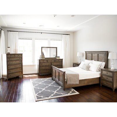 Bedard Weathered Oak Panel 6 Piece Bedroom Set Size: King