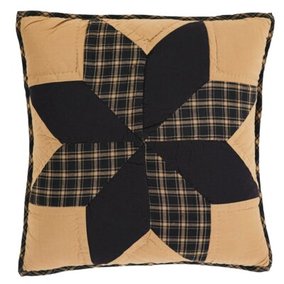 William Quilted Cotton Throw Pillow