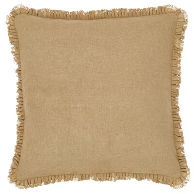 Bisch Fringed Burlap Throw Pillow