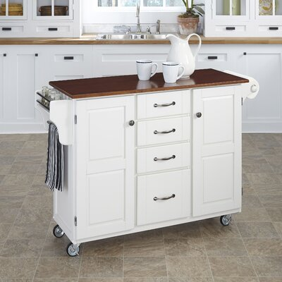 Adelle-a-Cart Kitchen Island Finish: White