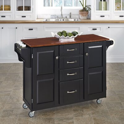 Adelle-a-Cart Kitchen Island Finish: Black