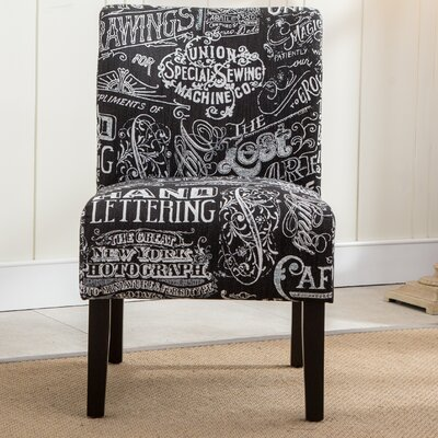 Savane Chalkboard Slipper Chair Upholstery: Black