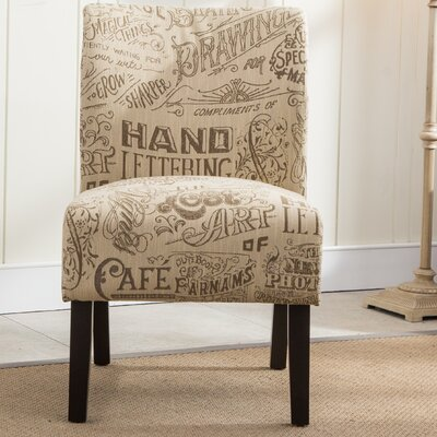 Savane Chalkboard Slipper Chair Upholstery: Beige