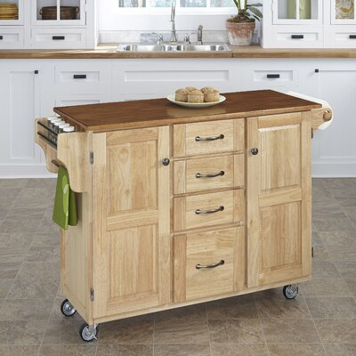 Adelle-a-Cart Kitchen Island Finish: Natural