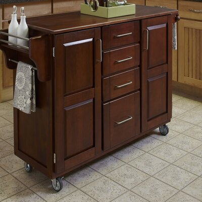 Adelle-a-Cart Kitchen Island Finish: Cherry