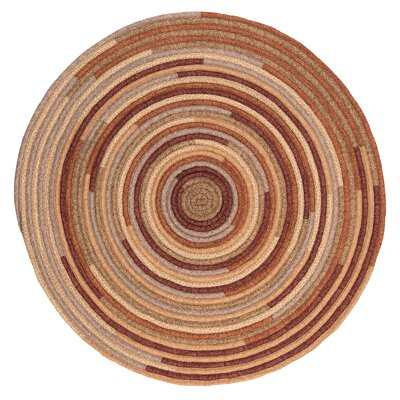 Chapelle Red Area Rug Rug Size: Round 8