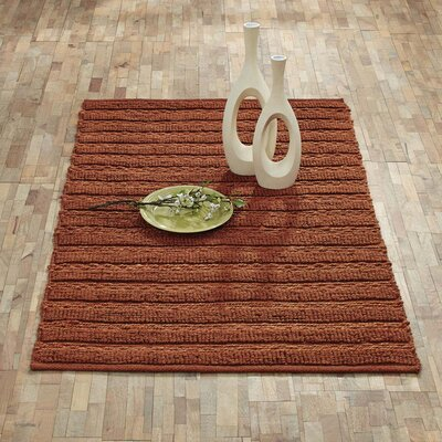 Milton Hand-Woven Amber Area Rug Rug Size: 3 x 5
