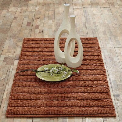 Milton Hand-Woven Amber Area Rug Rug Size: 23 x 4