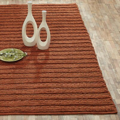 Milton Hand-Woven Amber Area Rug Rug Size: 5 x 8