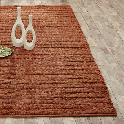 Milton Hand-Woven Amber Area Rug Rug Size: 6 x 9