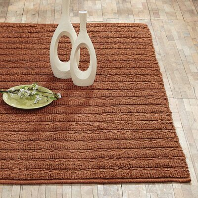 Milton Hand-Woven Amber Area Rug Rug Size: 4 x 6