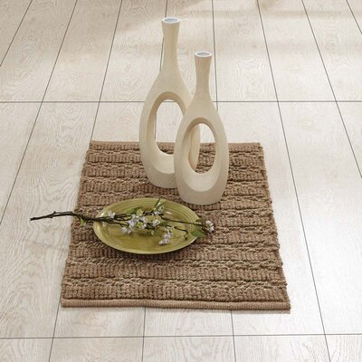 Milton Hand-Woven Natural Area Rug Rug Size: 18 x 26