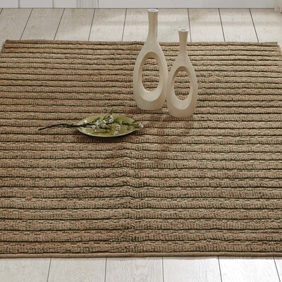 Milton Hand-Woven Natural Area Rug Rug Size: 6 x 9