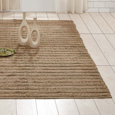 Milton Hand-Woven Natural Area Rug Rug Size: 5 x 8