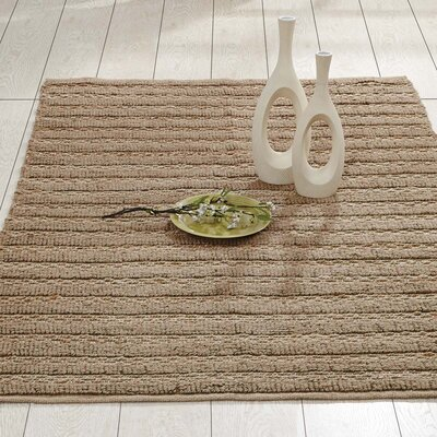 Milton Hand-Woven Natural Area Rug Rug Size: 4 x 6