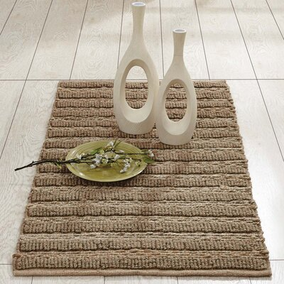 Milton Hand-Woven Natural Area Rug Rug Size: 23 x 4