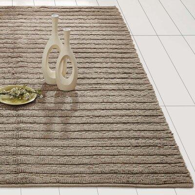 Milton Hand-Woven Silver Area Rug Rug Size: 5 x 8